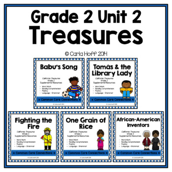 GRADE 2 TREASURES - Unit 2 BUNDLE - Common Core Connections