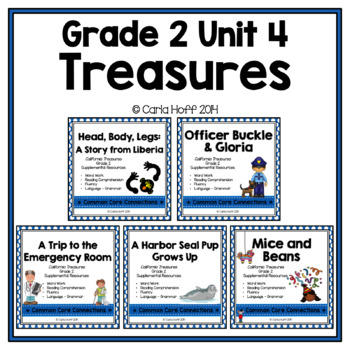 GRADE 2 TREASURES - Unit 4 BUNDLE - Common Core Connections