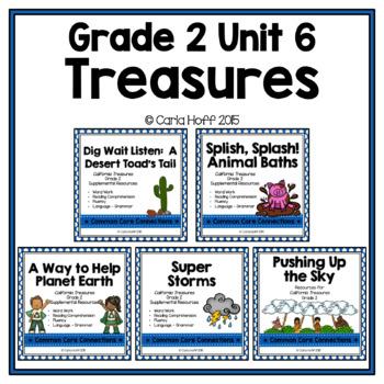 GRADE 2 TREASURES - Unit 6 BUNDLE - Common Core Connections