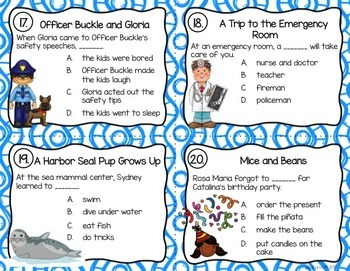 GRADE 2 TREASURES - Year End Review Task Cards