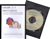 GRADE 2/3 PRINTABLE RESOURCES CD (ELA,MATH,TIER 2,GENRE,WRITING,TASK CARDS,...)