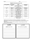 GRADE 3 - GO MATH 2015 - CHAPTER 5 ASSESSMENT - COVER SHEET - TEST ANALYSIS