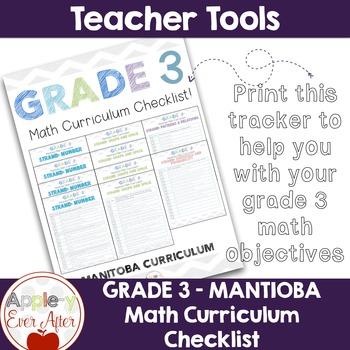 GRADE 3 Manitoba Canada Math Outcomes Checklist