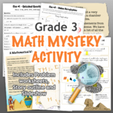 GRADE 3 Math Mystery Activity - Fun Review of all CCSS Topics