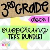 GRADE 3 Math STAAR Test Prep Task Cards: SUPPORTING TEKS BUNDLE!