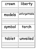 GRADE 3 - READING STREETS - VOCABULARY CARDS AND QUIZ - UNIT 6
