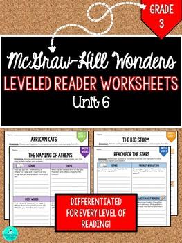 GRADE 3, UNIT 6 - Wonders Leveled Reader Worksheets