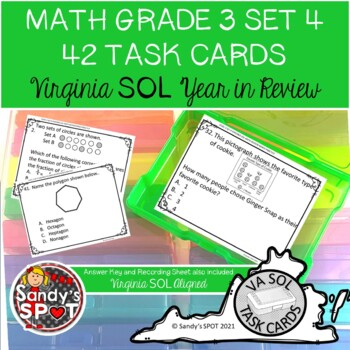 GRADE 3 VIRGINIA SOL MATH TASK CARDS SET 4