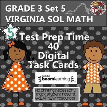 GRADE 3 VIRGINIA SOL MATH TASK CARDS SET 5