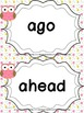 GRADE 3 WORD WALL WORDS WITH HEADERS - OWL THEMED
