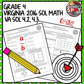 GRADE 4 FRACTION and DECIMAL EQUIVALENTS TARGETED PRACTICE VIRGINIA SOL