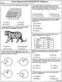 Grade 4 Measurement Assessements: Category 4  6 Assessemen