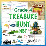 GRADE 4 Treasure Hunt NBT Math - Number & Operations in Ba