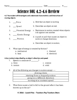 GRADE 4 VIRGINIA SCIENCE 4.2/4.6 STUDY GUIDE