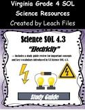 4th Grade VA Science SOL 4.3 Electricity Study Guide