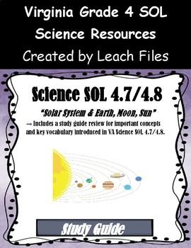 grade 4 virginia science sol 4 7 4 8 study guide by leach files tpt rh teacherspayteachers com  GRE Study Guide