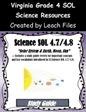4th Grade VA Science SOL 4.7-4.8 Study Guide