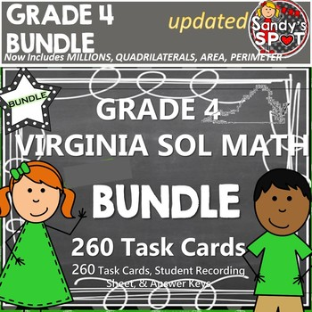 GRADE 4 VIRGINIA SOL MATH TASK CARDS BUNDLE