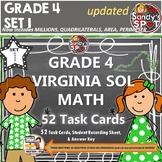 GRADE 4 VIRGINIA SOL MATH TASK CARDS SET 1 TEST PREP  VIRGINIA SOL MATH