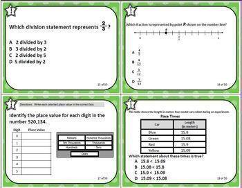 GRADE 4 VIRGINIA SOL MATH TASK CARDS SET 2 TEST PREP  VIRGINIA SOL MATH