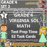 GRADE 4 VIRGINIA SOL MATH TASK CARDS SET 3 TEST PREP  VIRGINIA SOL MATH