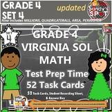 GRADE 4 VIRGINIA SOL MATH TASK CARDS SET 4 TEST PREP  VIRGINIA SOL MATH