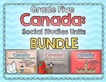 GRADE 5 BUNDLE - Canada: Geography, Stories, and Identity