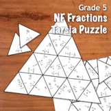 GRADE 5 Fractions Tarsia Triangle Puzzle - NF