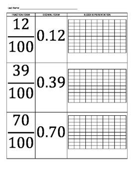 DECIMAL BASICS FOR TENTHS AND HUNDREDTHS PART 2: GRADE 5 M