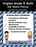 5th Grade VA SOL REVIEW PRACTICE #2