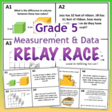 GRADE 5 MD Relay Race - Math Measurement and Data Activity