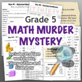 GRADE 5 Math Murder Mystery Activity - Fun Review of all CCSS Topics