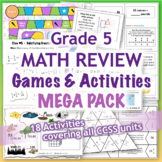 GRADE 5 Math Review Games & Activities MEGA PACK / Bundle CCSS Aligned