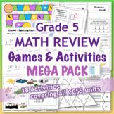 GRADE 5 Math Review Games & Activities MEGA PACK / Bundle