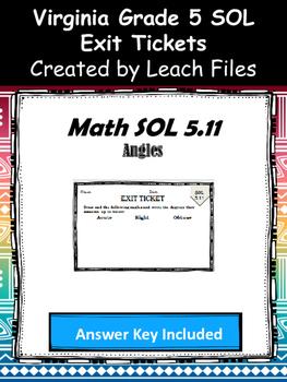 GRADE 5 Math SOL 5.11 Exit Tickets