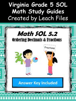 GRADE 5 Math SOL 5.2 Study Guide