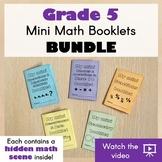 GRADE 5 Mini Math Booklets BUNDLE - Fold and create for a