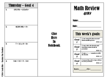 GRADE 5 Q1W8 MATH REVIEW