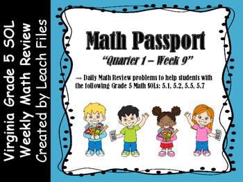 GRADE 5 Q1W9 PASSPORT