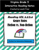 GRADE 5 READING SOL 5.5/5.6 GENRE NOTES