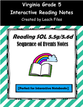 GRADE 5 READING SOL 5.5 SEQUENCE OF EVENTS NOTES