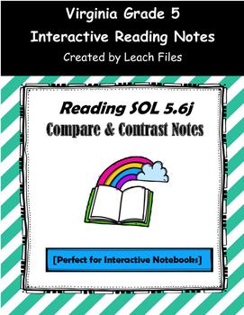 GRADE 5 READING SOL 5.6j COMPARE & CONTRAST NOTES
