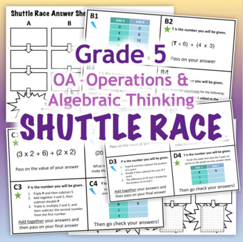 GRADE 5 Shuttle Relay Race OA - Operations & Algebraic Thinking