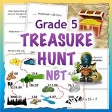 GRADE 5 Treasure Hunt NBT Math - Number & Operations in Ba