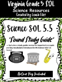 GRADE 5 VIRGINIA SCIENCE SOL 5.2 SOUND STUDY GUIDE