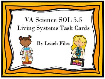 GRADE 5 VIRGINIA SCIENCE SOL 5.5 LIVING SYSTEMS TASK CARDS