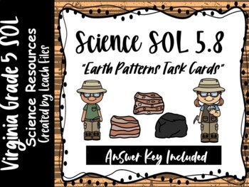 GRADE 5 VIRGINIA SCIENCE SOL 5.7 EARTH PATTERNS TASK CARDS