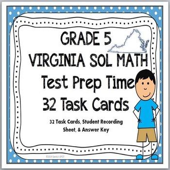 GRADE 5 VIRGINIA SOL TASK CARDS TEST PREP