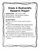 GRADE 6 BIODIVERSITY RESEARCH PROJECT: INVASIVE SPECIES