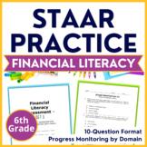 6th Grade Math STAAR Test-Prep Financial Literacy TEKS Aligned